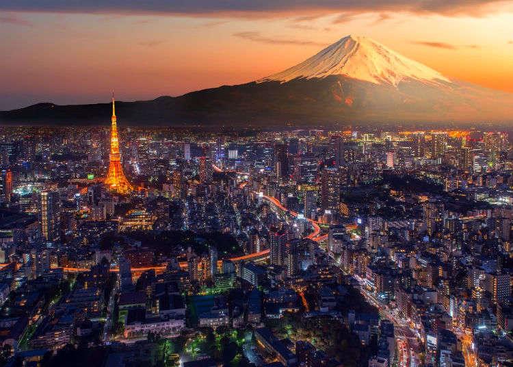 在东京可以看到富士山的三大景点