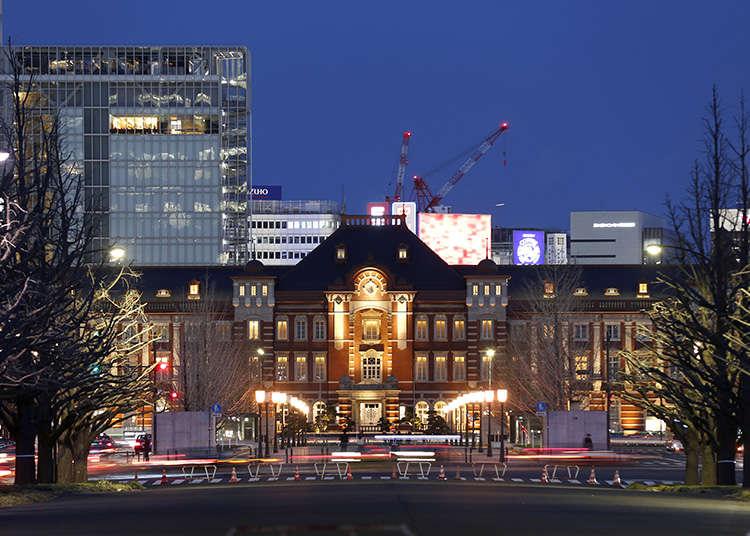도쿄 역에서 예술과 건축을 즐기다.