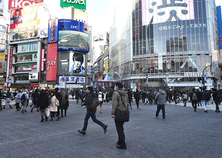 Melihat Orang Berlalu Lalang dengan Skala Terbesar di Jepang