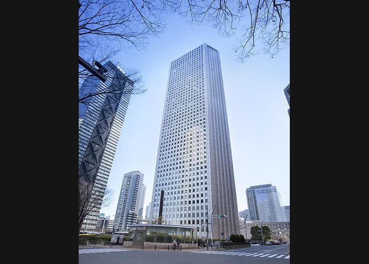 삼각형 빌딩에서 도쿄의 경치를 감상하자