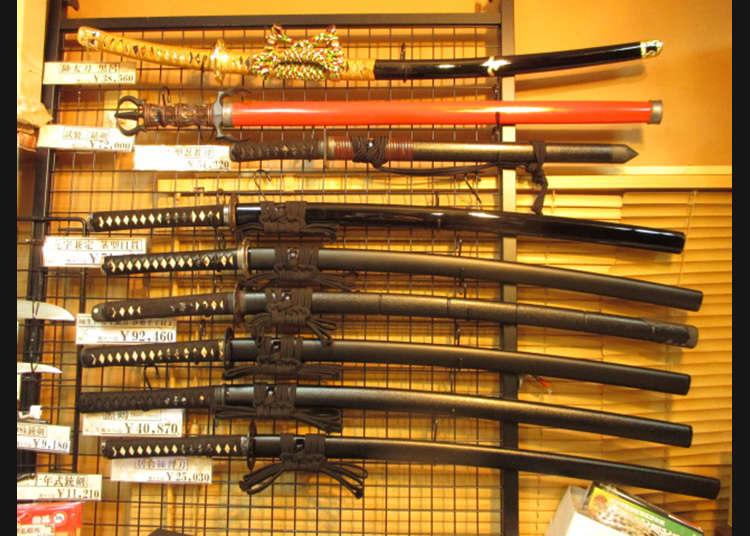購入在動漫和遊戲裡看到的武器!