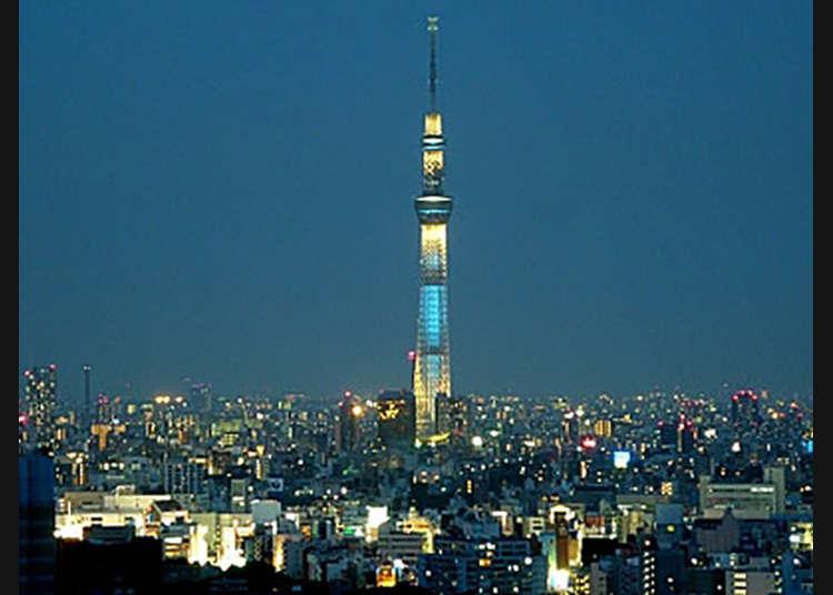 【後樂園】從展望台遠眺夜景。