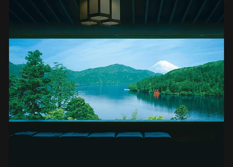 Museum di mana anda boleh melihat pemandangan Tasik Ashi yang sungguh menakjubkan!