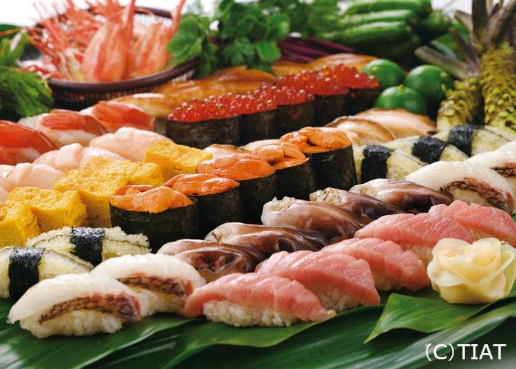 '우오가시 니혼이치'에서 초밥을 맛보다