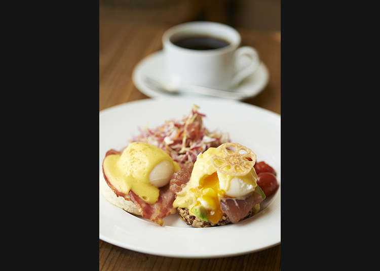 If you like eggs, then you're looking for Half & Half Benedict