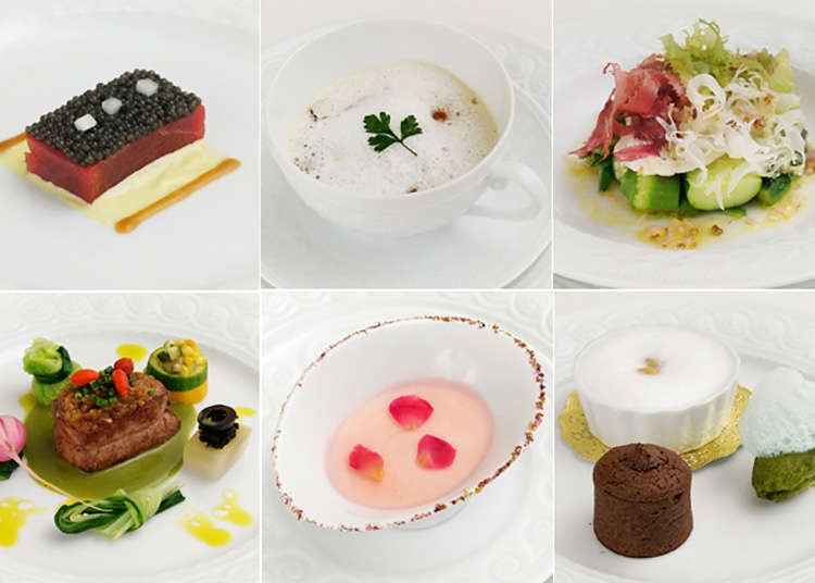Enjoy natural ingredients and luxury French cuisine at Ginza
