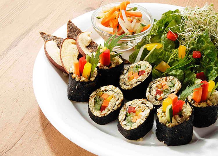 Sushi Gulung dengan Pasta Kacang Tanpa Nasi!