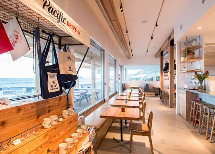 1. Kafe pandu masuk konsep terbuka