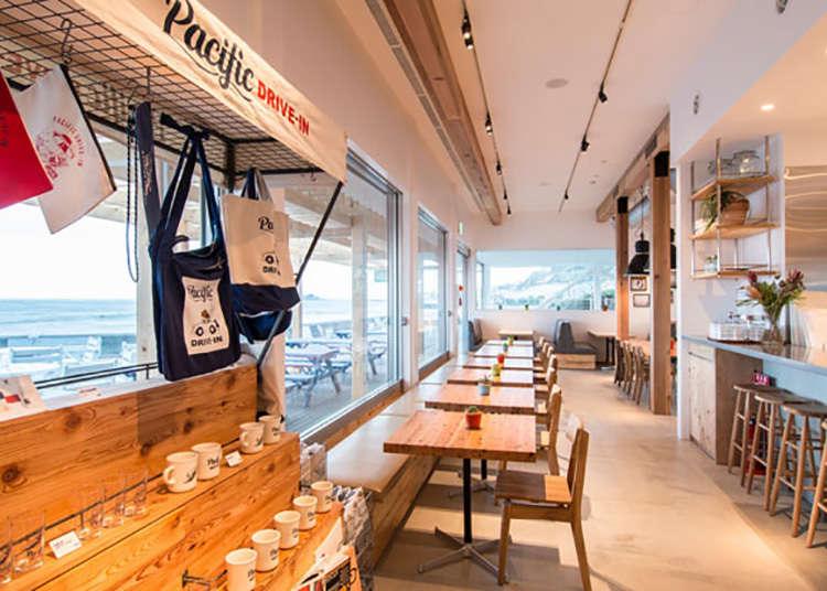 1.开放式的汽车咖啡餐馆。