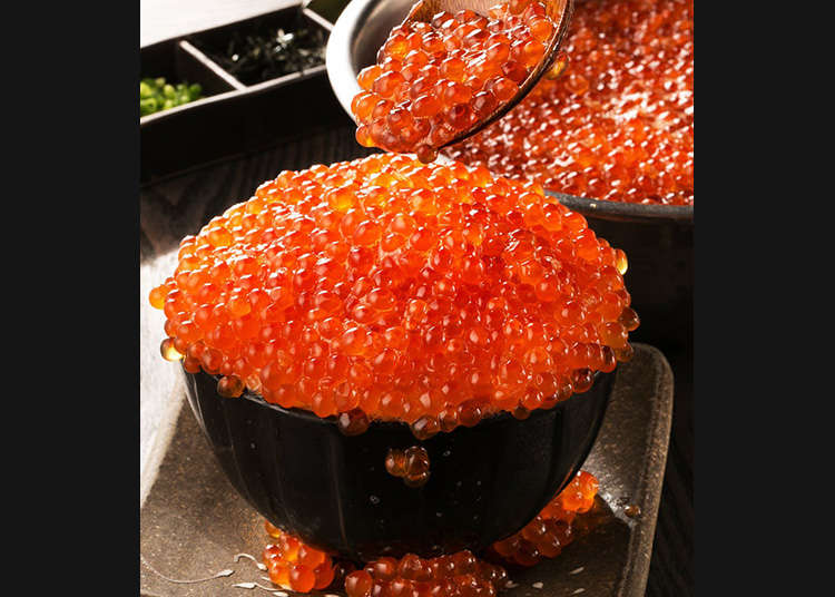 "Four Exquisite ""Kobore Ikura-don"" (Overflowing Salmon Roe Bowls) You Can Eat in Tokyo"
