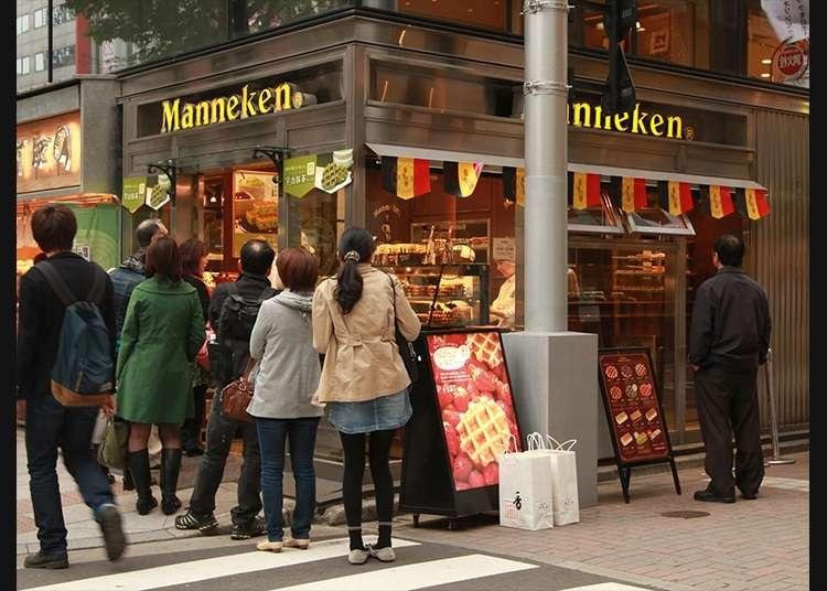 """正宗的比利时华夫饼""""银座Maneken""""店"""
