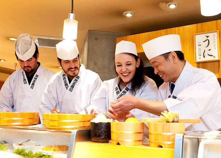 可體驗製作壽司「築地玉壽司」