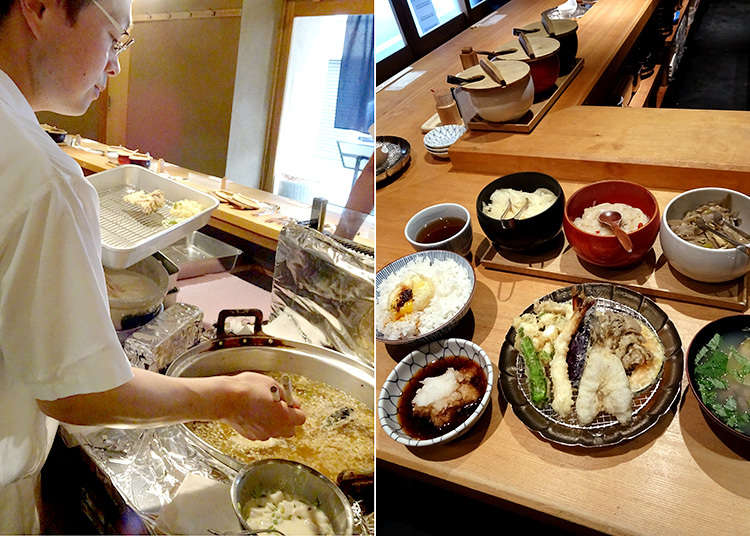 """""""Kaneko Hannosuke"""" adalah set makan tempura yang terkenal"""
