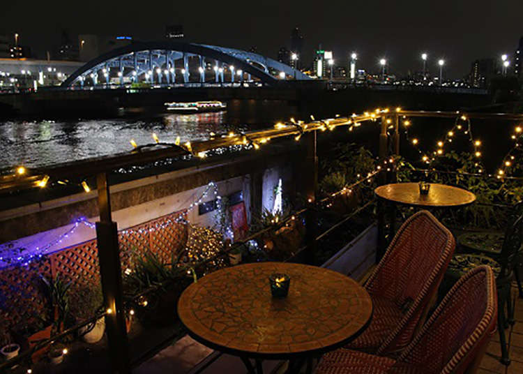 隅田川を望む「MEURSAULT」