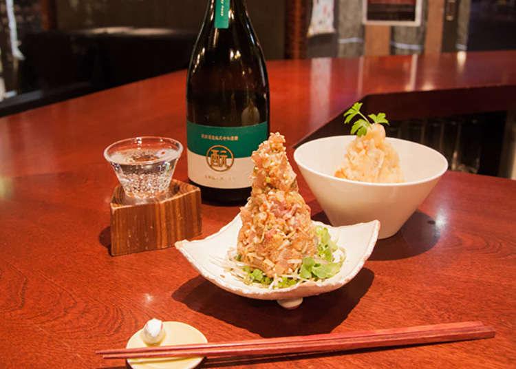 "Bar berdiri sake Jepun (arak Jepun) ""Moto"""