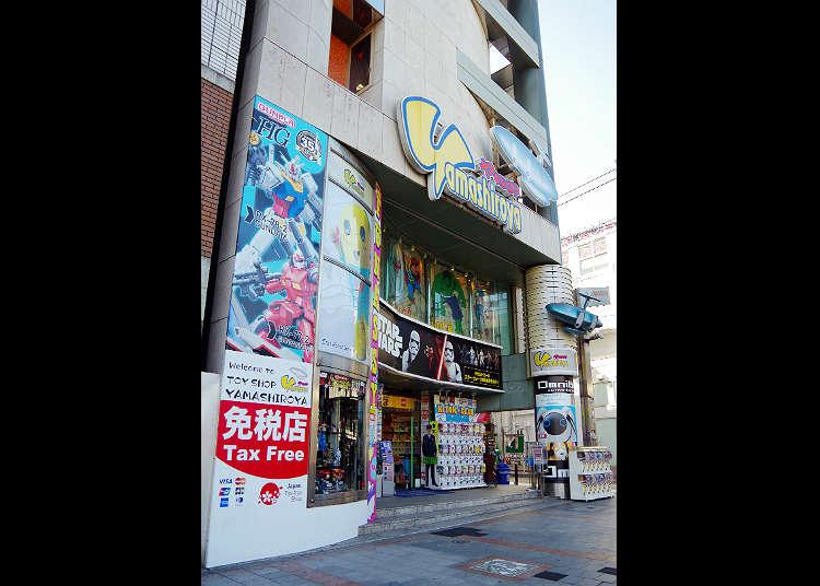 アニメグッズやヒーローグッズの宝庫