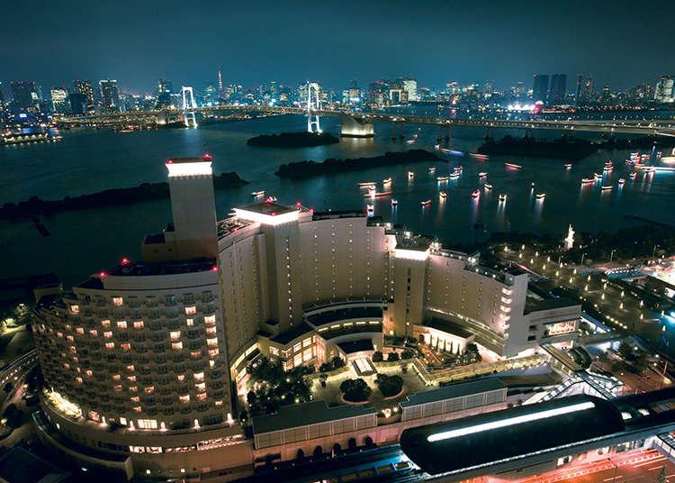 東京湾の景色を一望