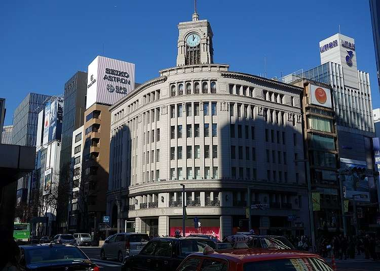 To Ginza, a town with glitz and glamour