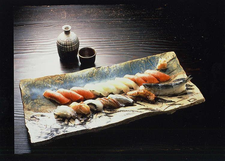 品尝银座的高级寿司