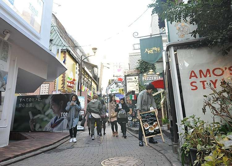 Shopping in the stylish backstreets!