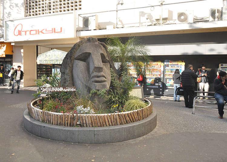 著名的碰面地點「復活節島石像」
