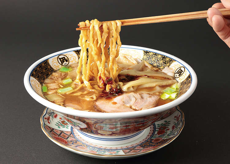 Have ramen with broth made from small delicious fish
