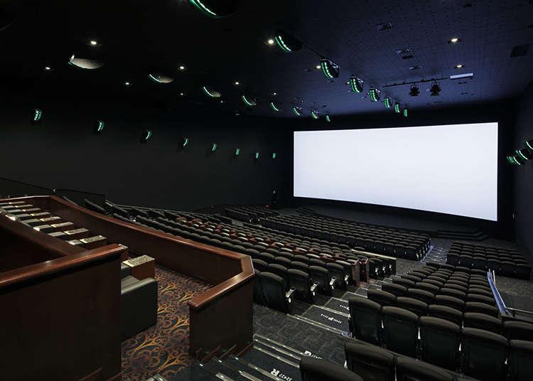 Enjoy movies at a cinema complex