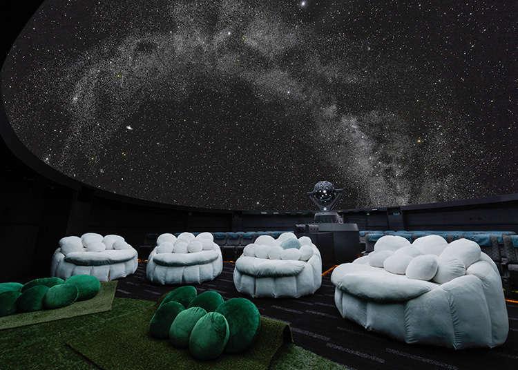 在星空下度過浪漫時光