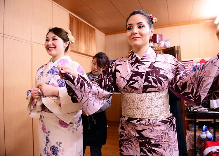 Mari menyewa kimono untuk lebih menjiwai suasana di Jepun!