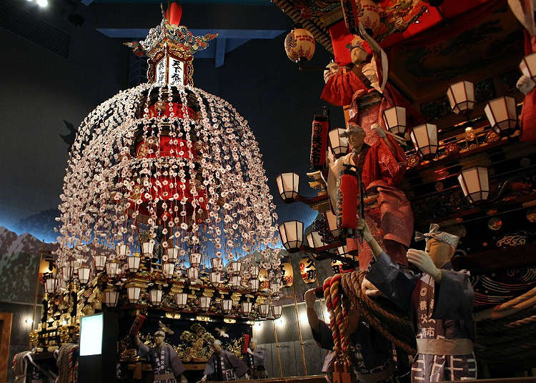 A pavilion where you can learn traditions from the Chichibu Night Festival