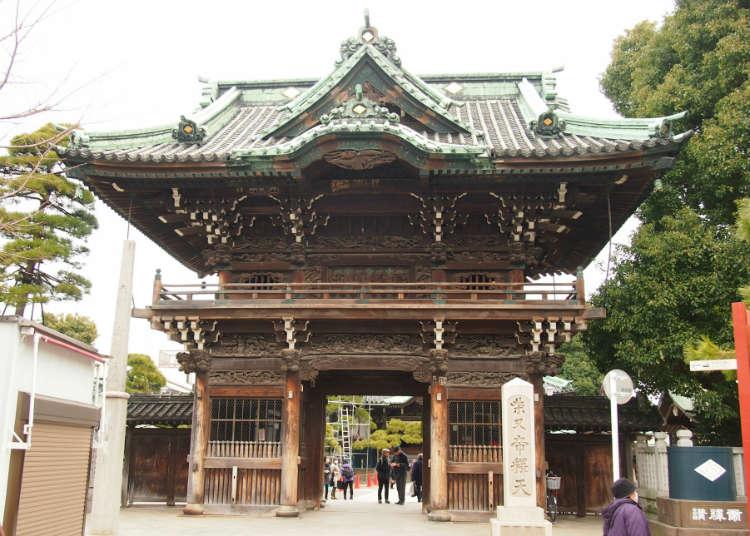 "Ke ""Shibamata Taisyakuten"" (kuil Buddha di Katsushika, Tokyo) tempat klasik Shibamata"