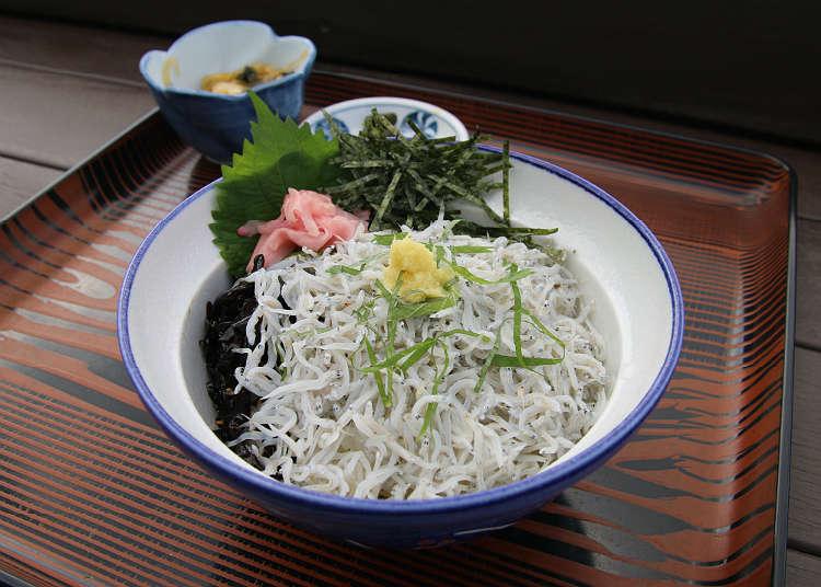 Enjoy shirasu (young sardines), rich with ocean flavor