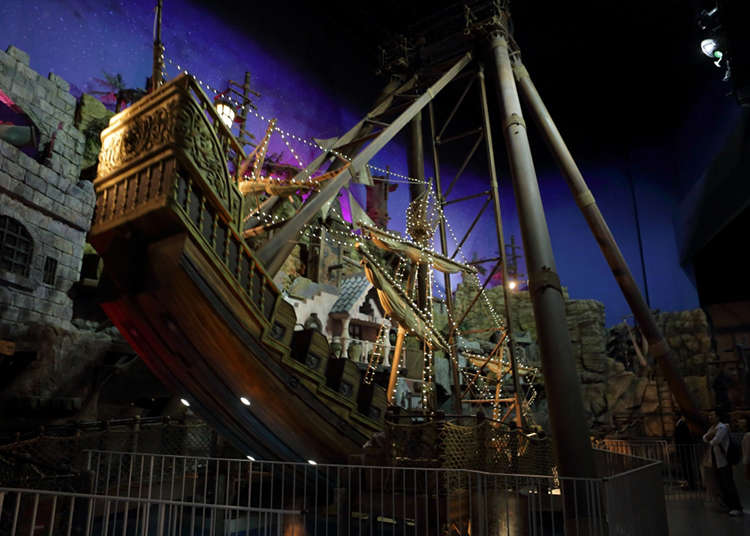 在巨大的海盜船上體驗無重力的世界!