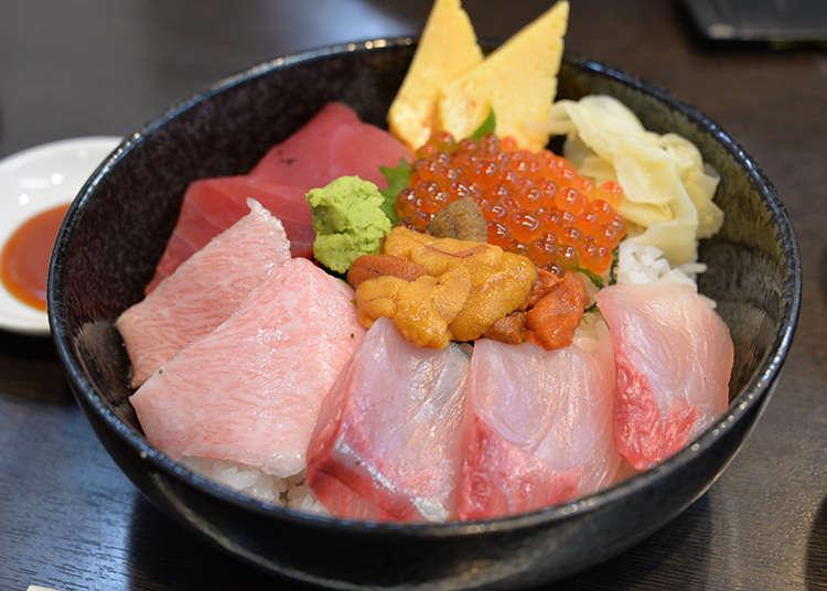 Indulge in kaisen don (seafood rice bowl)
