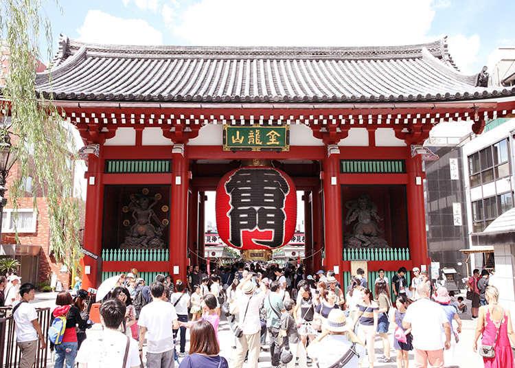 """""""ประตูคะมินะริ"""" สัญลักษณ์ของอาซากุสะ"""