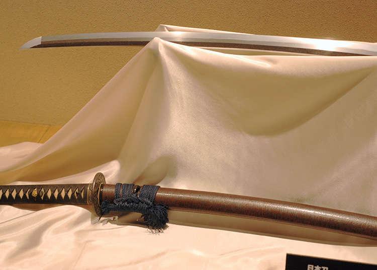The samurai weapons are beautiful yet frightening