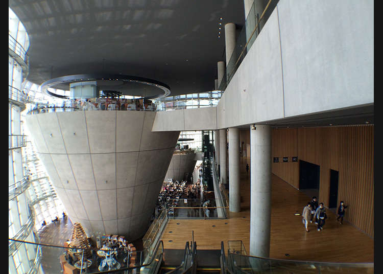 Having lunch in the museum