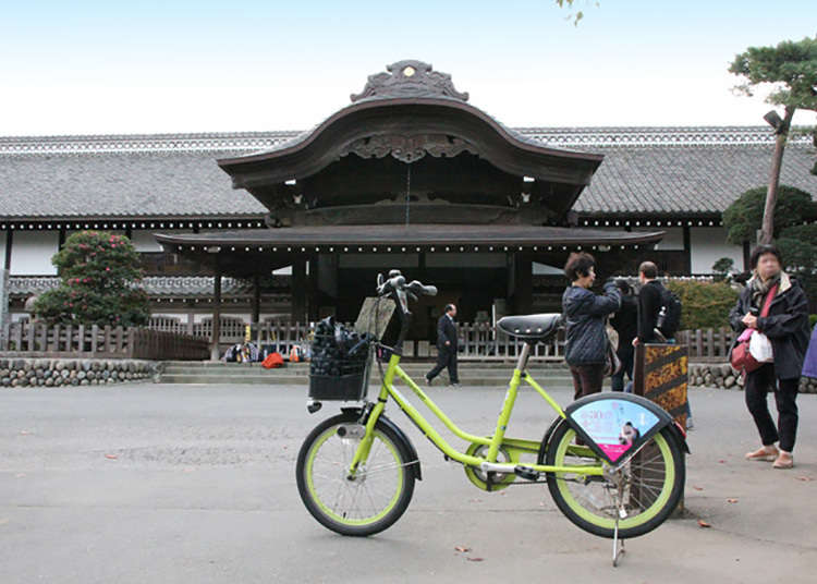 Perjalanan mengelilingi Koedo Kawagoe dengan basikal sewa.