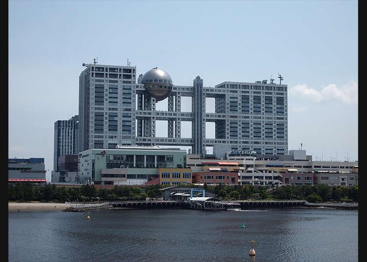 """ทิวทัศน์ที่มองจากห้องชมวิวรูปทรงกลมที่ """"Fuji Television"""""""