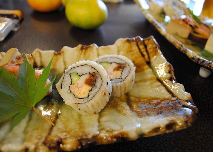 Unique ingredients of rotating sushi