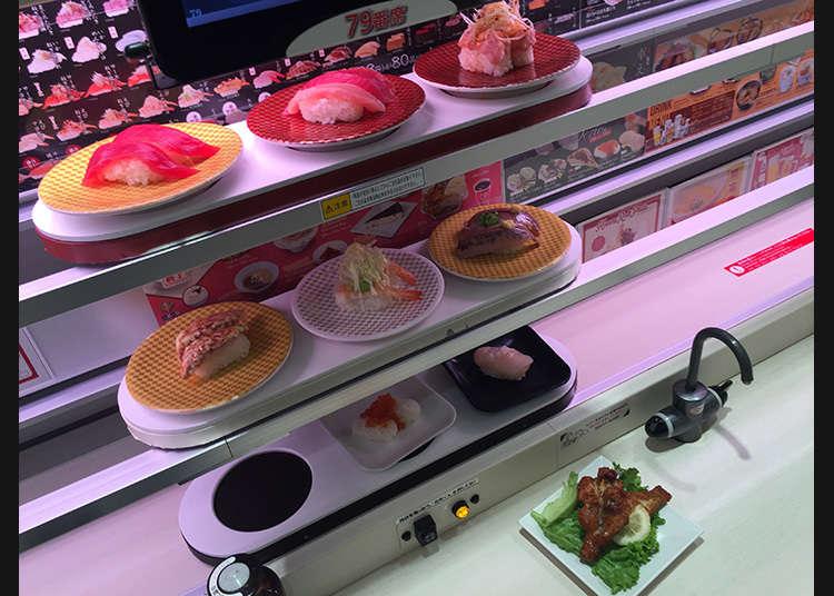 Pengiriman Langsung Sushi dengan Jalur Cepat 3 Susun