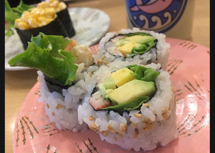 西式捲和獨特的壽司配料一樣高品質
