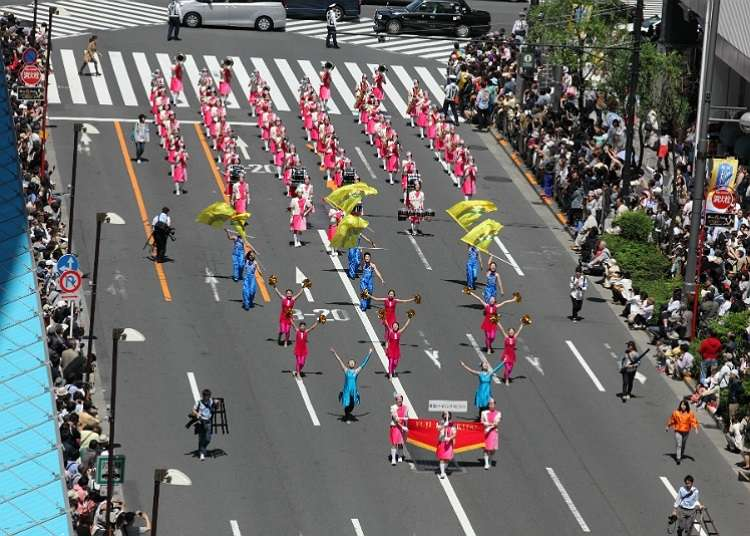 Ginza Willow Festival and its impressive parade are a must-see.