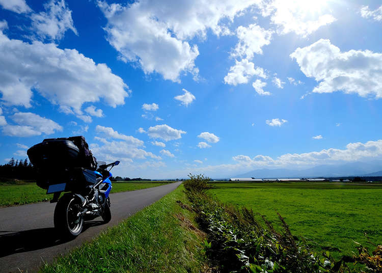 일본에서 오토바이 타기