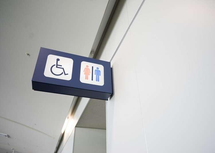 Piktogram atau papan tanda yang biasa dilihat di dalam bangunan