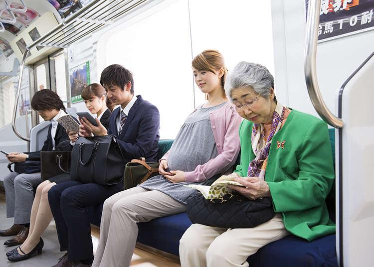 電車など公共交通機関で気をつけるべきマナー