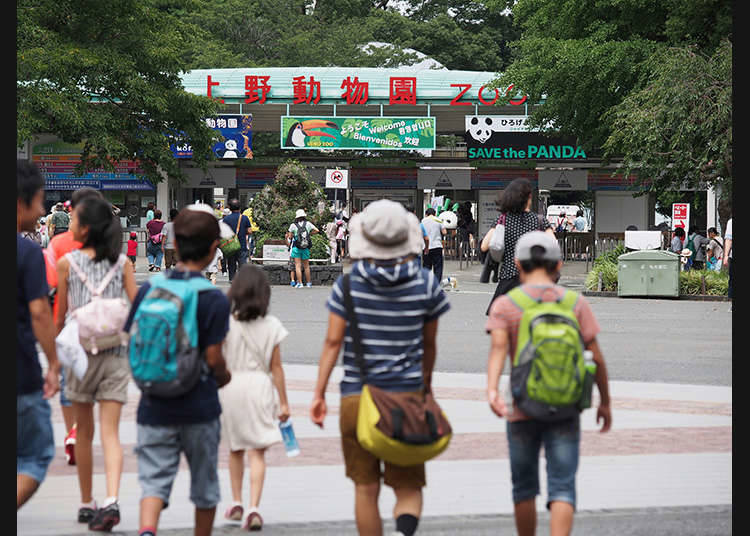 The famous Ueno Zoological Gardens