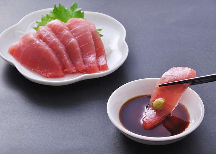 添加在生魚片的佐料