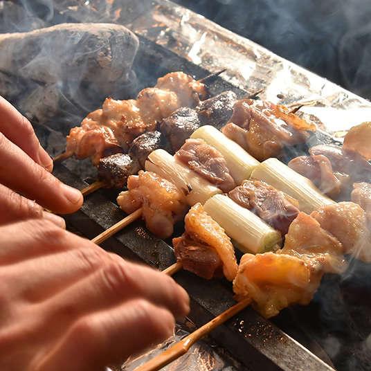 烤鸡肉串・烤肉串