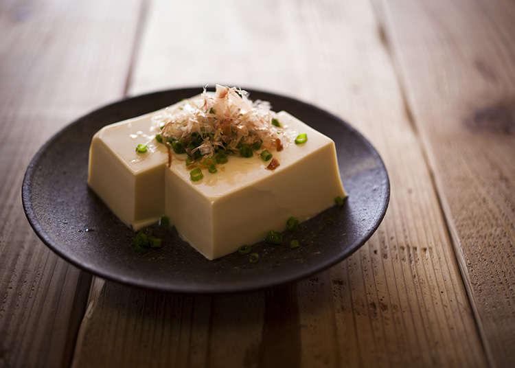 Yuba and tofu dishes